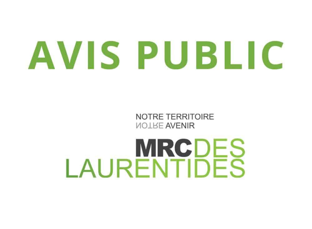 Avis public - MRC des Laurentides